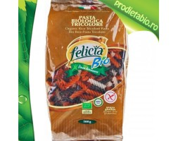 Fusilli Bio tricolore din OREZ Fara Gluten (colorate natural) 500 gr